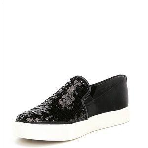 Sam Edelman Elton Sequin and Satin Sneakers NWT